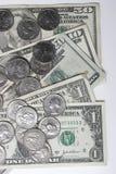 coins dollar Royaltyfria Bilder