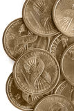 coins dollar en oss Fotografering för Bildbyråer