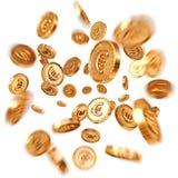 coins dollareuroguld vektor illustrationer