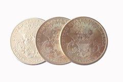 coins dollareuroguld Royaltyfri Fotografi