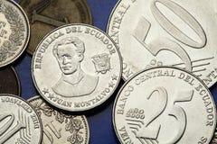 Coins of Ecuador Royalty Free Stock Photo