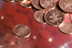 coins engelska arkivfoton