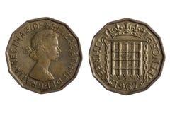 coins engelska Arkivfoto