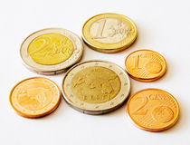Coins of Estonia (euro and cents) Royalty Free Stock Photo