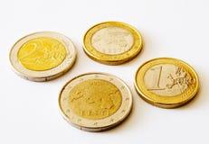 coins estonia euro en två Arkivbilder