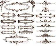 Coins et frontières d'ornamet de conception Image libre de droits
