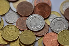 Coins EUR and PLN Royalty Free Stock Image