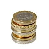 coins euro Royaltyfri Fotografi