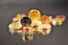Coins euro Stock Images
