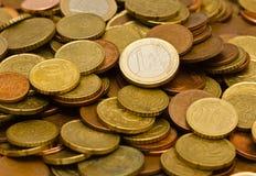 coins euro Royaltyfri Bild