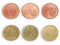 Coins - euro Royalty Free Stock Photos