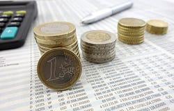 coins euro Arkivbild