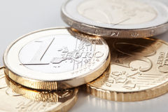 coins euro Arkivfoton