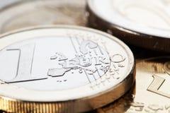 coins euro Arkivfoto