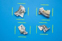 Money in euro notes and coins stock image