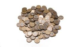 coins euro många Royaltyfri Bild