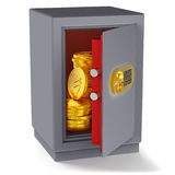Coins euro money in the safe Royalty Free Stock Photography