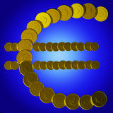 Coins Euro Symbol Shows European Sales Royalty Free Stock Photo