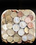 coins euroen blank fryst is Fotografering för Bildbyråer