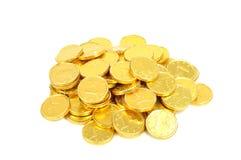 coins euroguld Fotografering för Bildbyråer