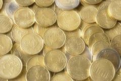 coins eurohägring Arkivfoto