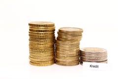 coins europeanen Arkivfoton