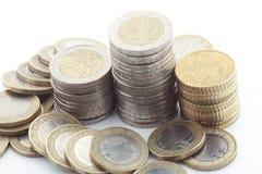 coins europeanen Royaltyfri Bild