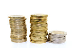 coins europeanen Royaltyfri Foto