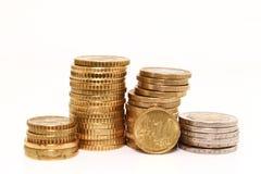 coins europeanen Arkivbilder