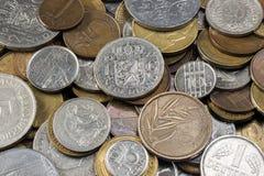 coins europeiskt gammalt Arkivbild