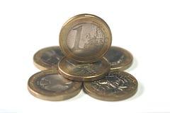 coins eurostapeln Royaltyfri Bild