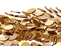 Coins fall Royalty Free Stock Images