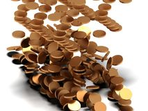 Coins fall Royalty Free Stock Photography