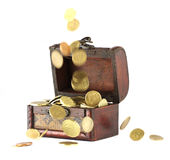 Coins falling down Stock Image