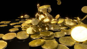 Coins Falling in slow motion Royalty Free Stock Photography