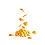 Coins falling on white background. Stock Image