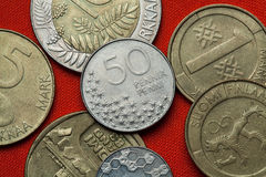 Coins of Finland Royalty Free Stock Images