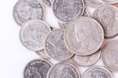 Coins. Five baht in Thailand to use in trading today Royalty Free Stock Photos