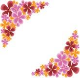 Coins floraux Image libre de droits