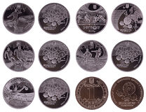 Coins For EURO 2012 Stock Photo