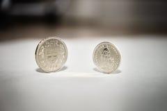 coins francschweizare Arkivbilder