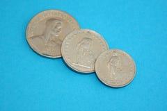 coins francschweizare arkivbild
