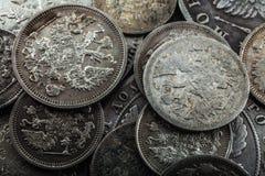 coins gammal silver Fotografering för Bildbyråer