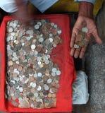 coins gammal tappning Royaltyfri Fotografi