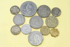 coins gammala philippines Royaltyfria Foton