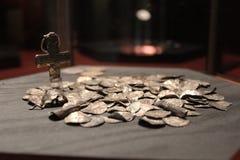coins gammalt royaltyfri bild
