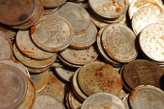 coins gammalt Royaltyfria Foton