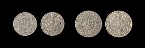 coins gammalt Arkivfoto