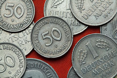 Coins of Germany Royalty Free Stock Photo