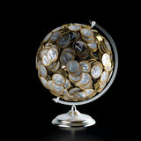 The Coins Globe (Money Conceptual Picture) Royalty Free Stock Images